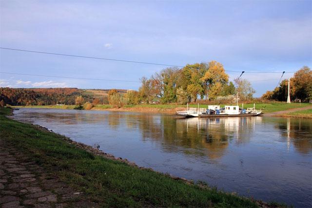 Gierseilfähre auf der Weser